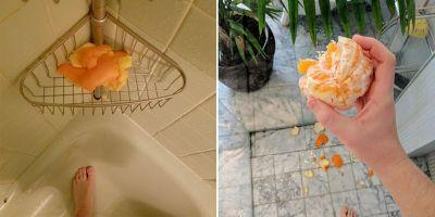 People on Reddit are eating oranges in the shower as a strange and wonderful act of self-care