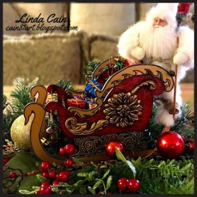 A Victorian Christmas Sleigh Decoration from Retro Cafe Art Gallery