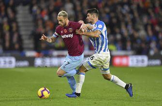 Huddersfield held to 1-1 by West Ham in EPL