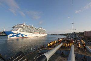 Royal Princess Cruise arrives at the Port Of Los Angeles World Cruise Center