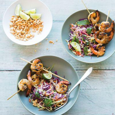 Easy, Make-Ahead Desk Lunch: Vietnamese Slaw with Lemongrass Shrimp and Peanuts