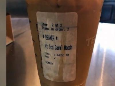 Latino Starbucks customer given cup with 'beaner' on label