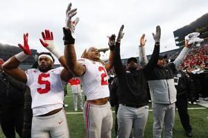 Dobbins, Fields power No. 2 Ohio State past No. 10 Michigan
