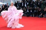 Lady Gaga's Gown Has More Pink Feathers Than a Flock of Flamingos at the Zoo