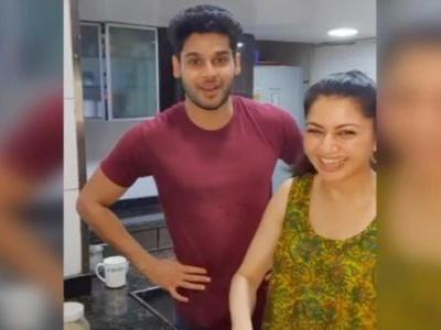 Bhagyashree cooks healthy chocolate muffins with son Abhimanyu in new post. Seen yet?