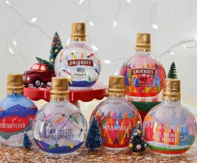 I Spy With My Little Eye Smirnoff's Giant, Vodka-Filled Christmas Ornaments - and I NEED Them