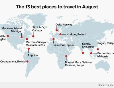13 places to travel to in August for every type of traveler