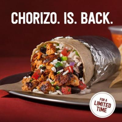 You Asked, Chipotle Answered. Chorizo Returns