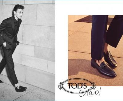 Anwar Hadid & Adrien Sahores Take a Stroll with Tod's for Fall '18 Campaign