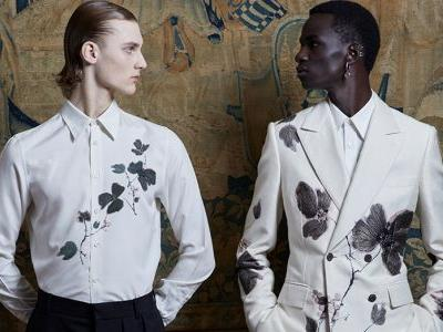 Lavish tailoring and textural sublimity synthesises Alexander McQueen's spring/summer 2020 menswear collection