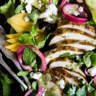 Grilled Curry Chicken Salad