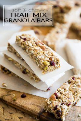 Soft and Chewy Trail Mix Granola Bars