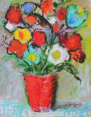 Happy New Year, Contemporary Floral Paintings by Amy Whitehouse
