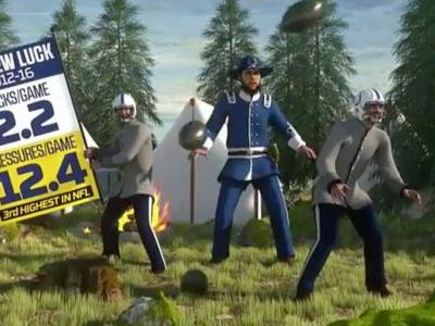 ESPN played the controversial southern anthem 'Dixie' during the NFL Wild Card game while depicting Andrew Luck as a Civil War officer