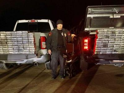 Police K-9 makes best drug bust yet nabbing almost 600 pounds of illegal substance