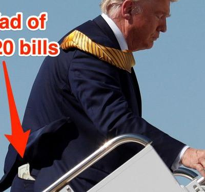 Trump carries a wad of cash for tipping people in his back pocket instead of a wallet