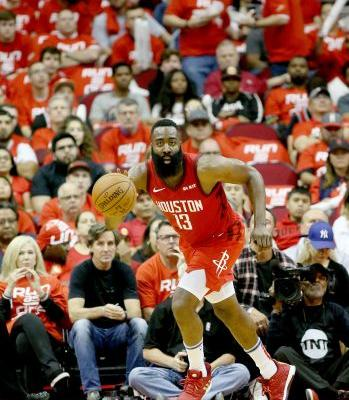 James Harden has triple-double as Houston Rockets cruise to Game 2 win over Utah Jazz