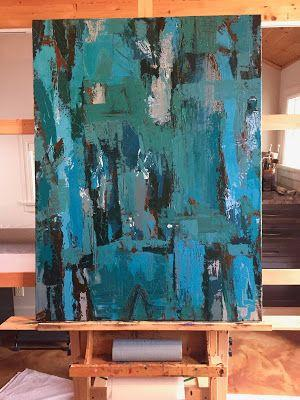 New large abstract painting, by Kim Blair