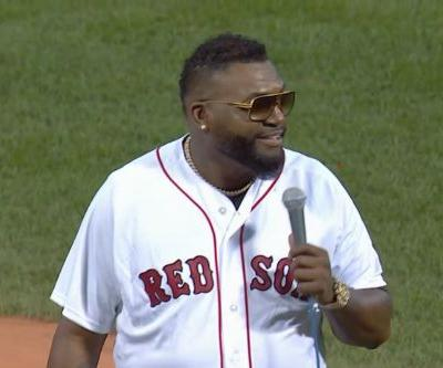 David Ortiz sends Fenway Park into hysteria with first pitch