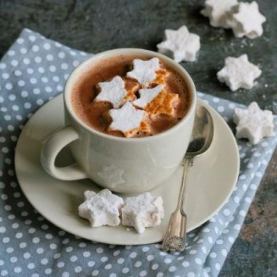 Spiced holiday hot chocolate
