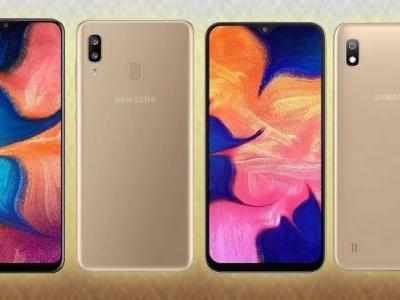 Samsung Galaxy A10 and A20 get gold color treatment in India