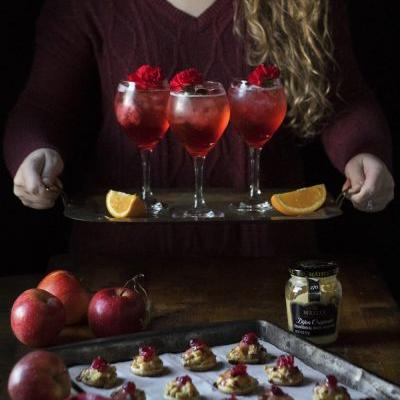 Holiday Party Ideas: Sweet and Savory Hors D'oeuvres and Cranberry Campari Spritzes