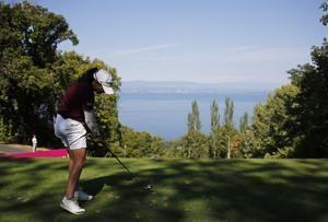 Olson takes 2-shot lead after 3rd round of Evian major