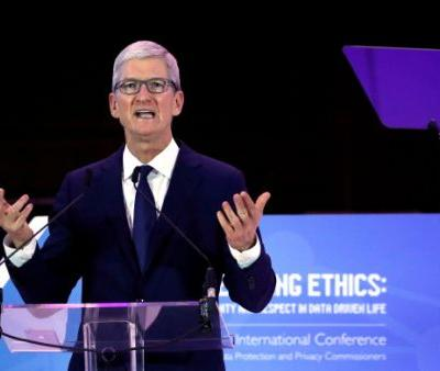 Apple CEO Tim Cook says 'weaponization' of user data is surveillance
