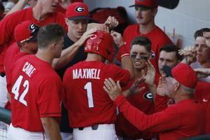 Maxwell's slam helps Georgia roll early, beat Mercer 13-3
