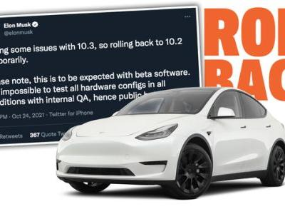 Tesla Rolled Back Full Self-Driving Beta Because Of 'Some Issues'