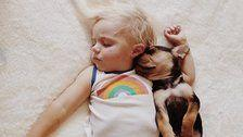 35 Adorable Photos Of Dogs And Babies Just Because