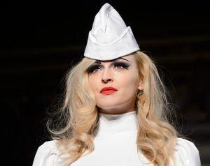 Fearne Cotton Makes A Catwalk Appearance At Pam Hogg's LFW Show