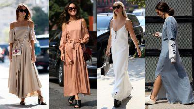 Sleek & Solid Maxi Dresses Reigned Supreme on Day 4 of NYFW