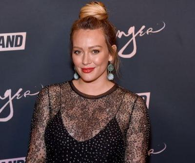 Pregnant Hilary Duff trying to induce labor with salad