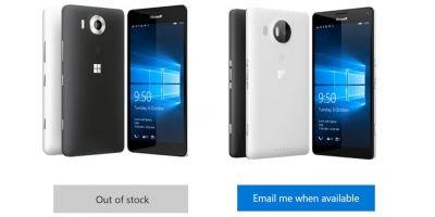 Say goodbey to the Lumia 950 and 950 XL in UK as it goes out of stock