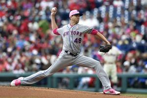 Mets' deGrom throws 45 pitches in scoreless 1st, is pulled