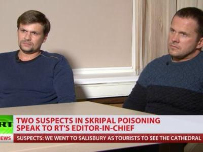 2 Russians accused of attempted nerve agent assassination in England say they were only there to see the cathedral