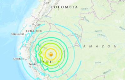 Northern Peru rocked by 8.0-magnitude earthquake - USGS