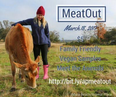 Join Animal Place for our MeatOut event at the Grass Valley