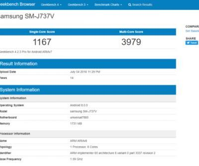Verizon-Bound Samsung Galaxy J7 Aero Spotted On Geekbench