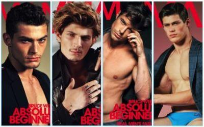 Bruce Weber Captures 4 Models for VMAN's Issue 37 Covers