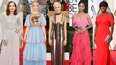 Red Carpet Scorecard 2017: Which Designers Dressed the Most Actresses This Year?