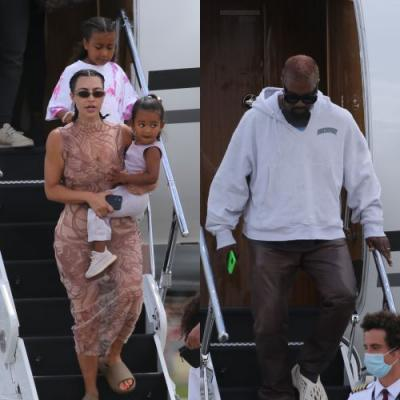 Kim Kardashian, Kanye West and Kids Return From Family Vacation in the Dominican Republic Amid Tension