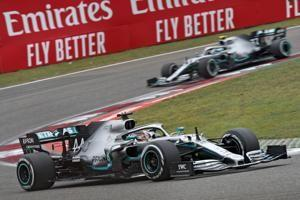 Hamilton wins 6th Chinese GP; Third time Mercedes goes 1-2