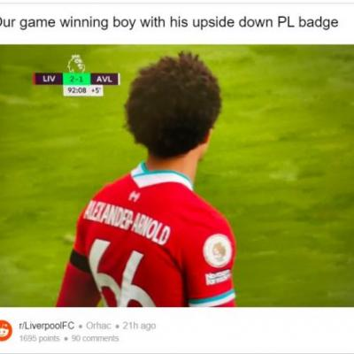 Liverpool fans on Reddit spotted something weird about Trent Alexander-Arnold's kit yesterday