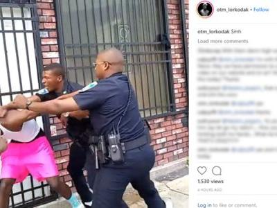 Officer suspended after video showing him repeatedly punching man goes viral