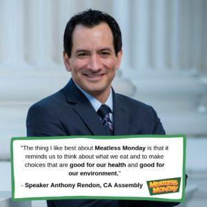 California State Capitol Goes Meatless Monday - Q&A with Assembly Speaker Anthony Rendon
