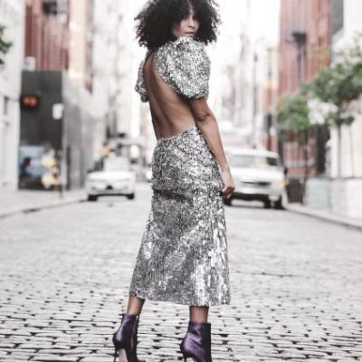 17 Non-Cliché Sequin Dresses to Wear on New Year's