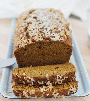 Toasted Coconut Pumpkin Bread