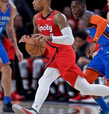 George has 37 and Thunder hold off Blazers 111-109